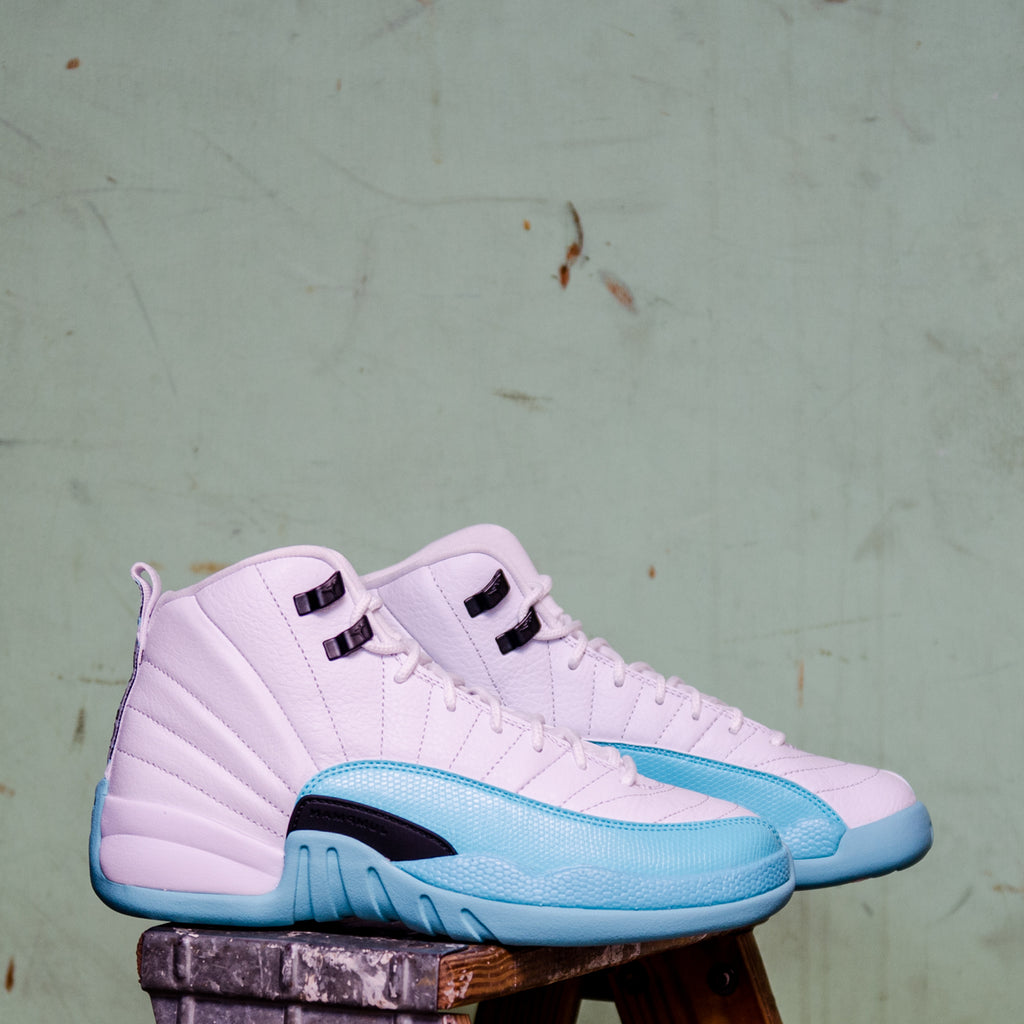 buy popular 746c8 24919 Girls Air Jordan 12 Retro Light Aqua