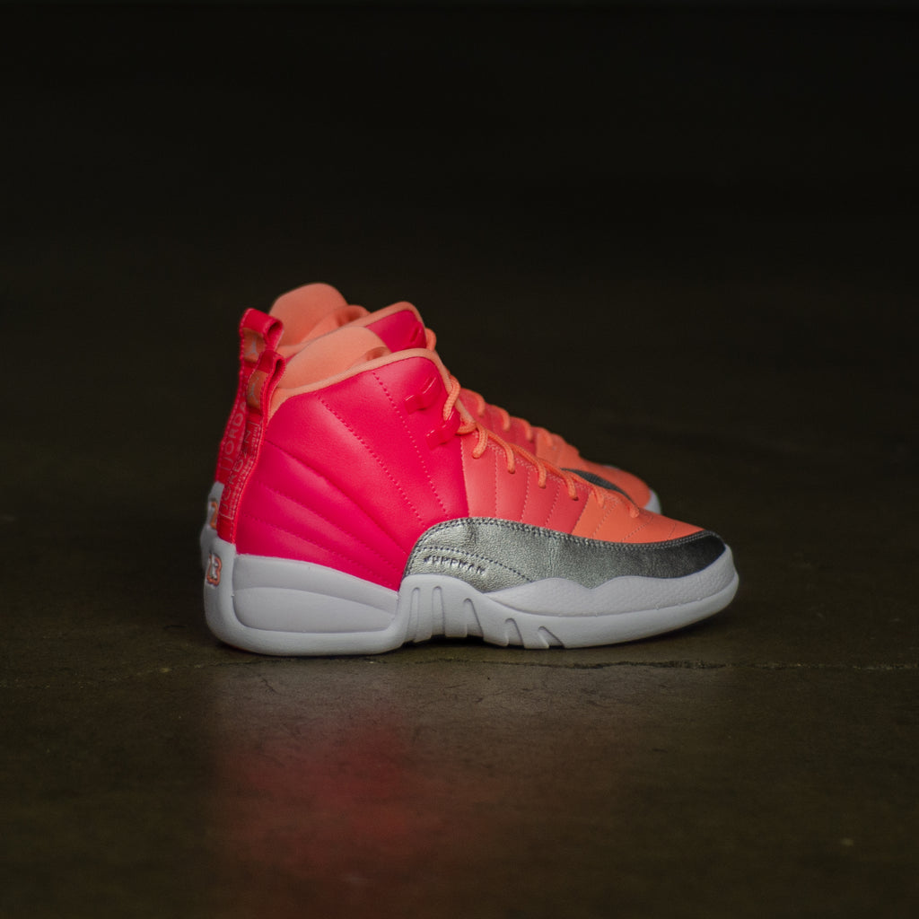 Girls Air Jordan 12 Retro Hot Punch