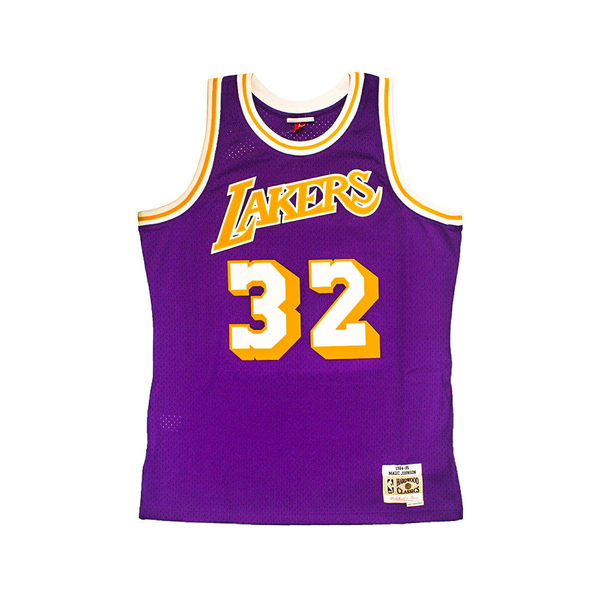 Men s Mitchell   Ness Magic Johnson Swingman Jersey Los Angeles Lakers 7f130d267