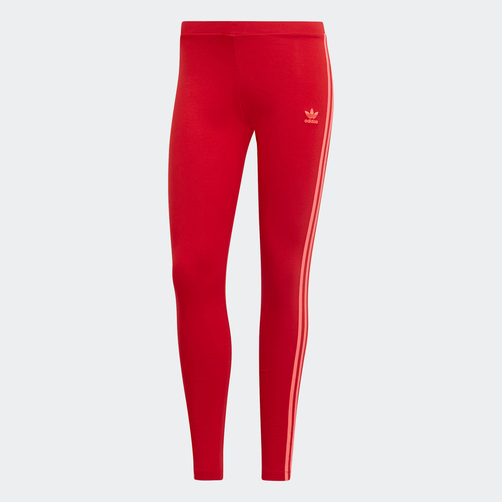 Women's adidas Originals 3-Stripes Leggings Scarlet