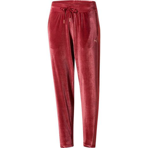 Women's PUMA Yogini Velvet Leggings Cordovan Red