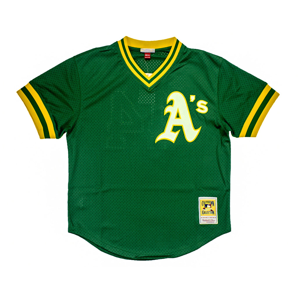 Men's Mitchell & Ness Oakland Athletics Reggie Jackson 1987 Batting Practice Jersey