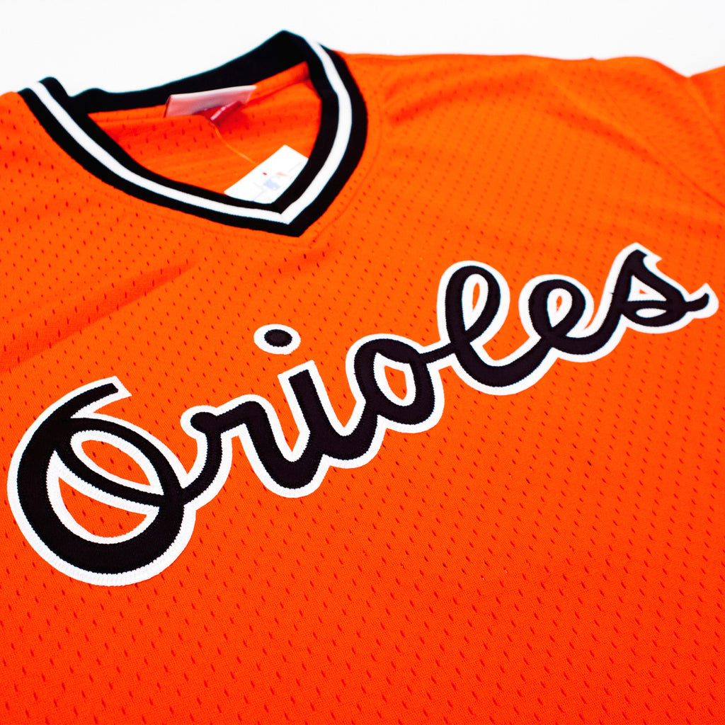Men's Mitchell & Ness Baltimore Orioles Cal Ripken 1988 Batting Practice Jersey