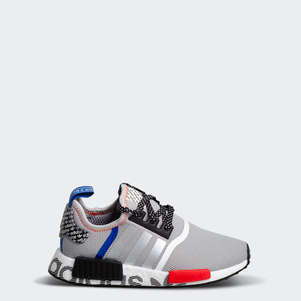 Kid's adidas Originals NMD_R1 Shoes Grey Black Royal