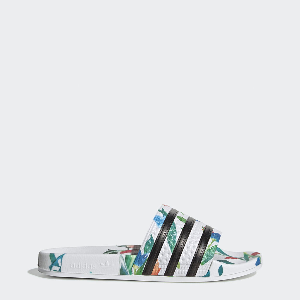 Women's adidas Originals Adilette Slides Flowers
