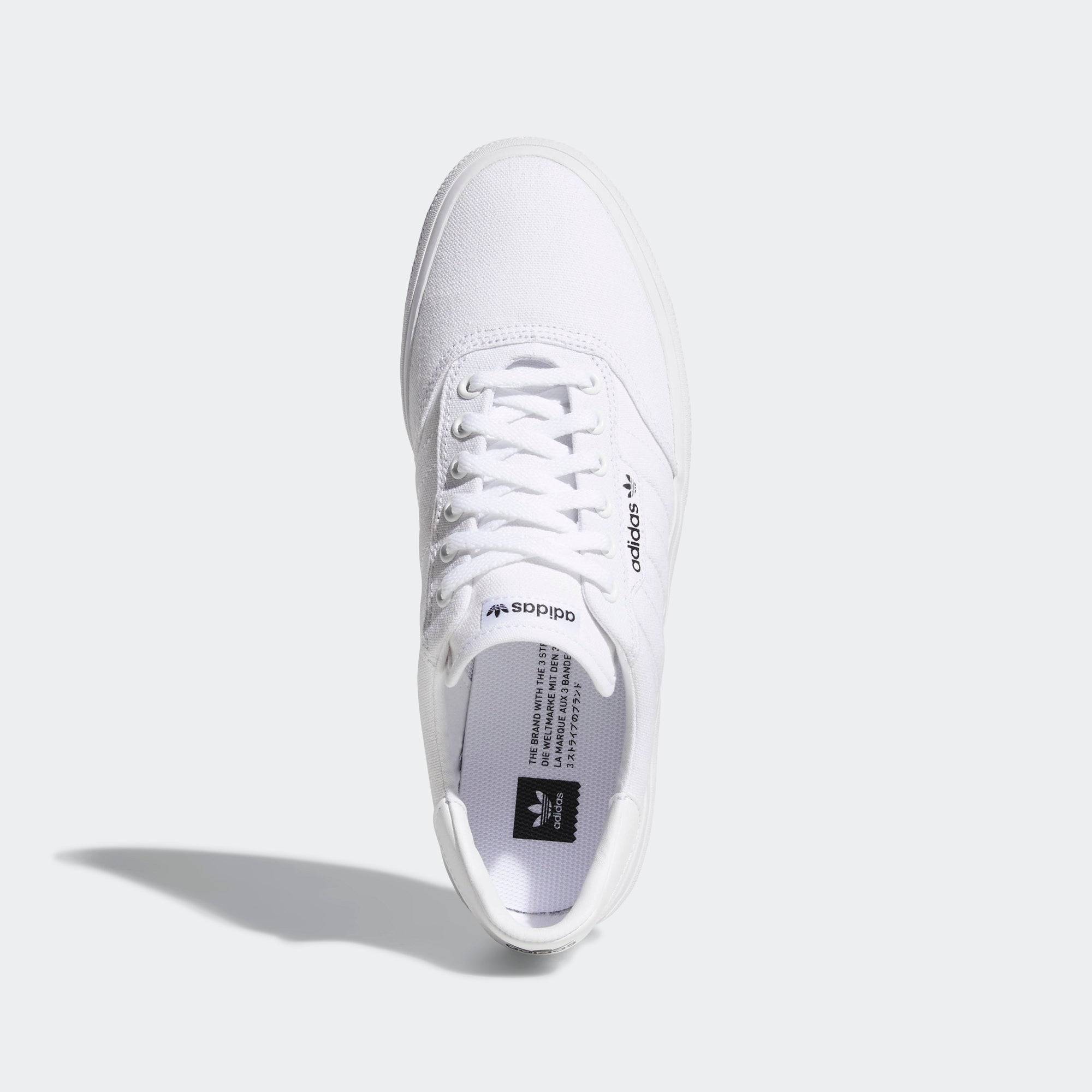 buy popular b9136 ddfed Mens adidas Originals 3MC Vulc Shoes Cloud White. 1
