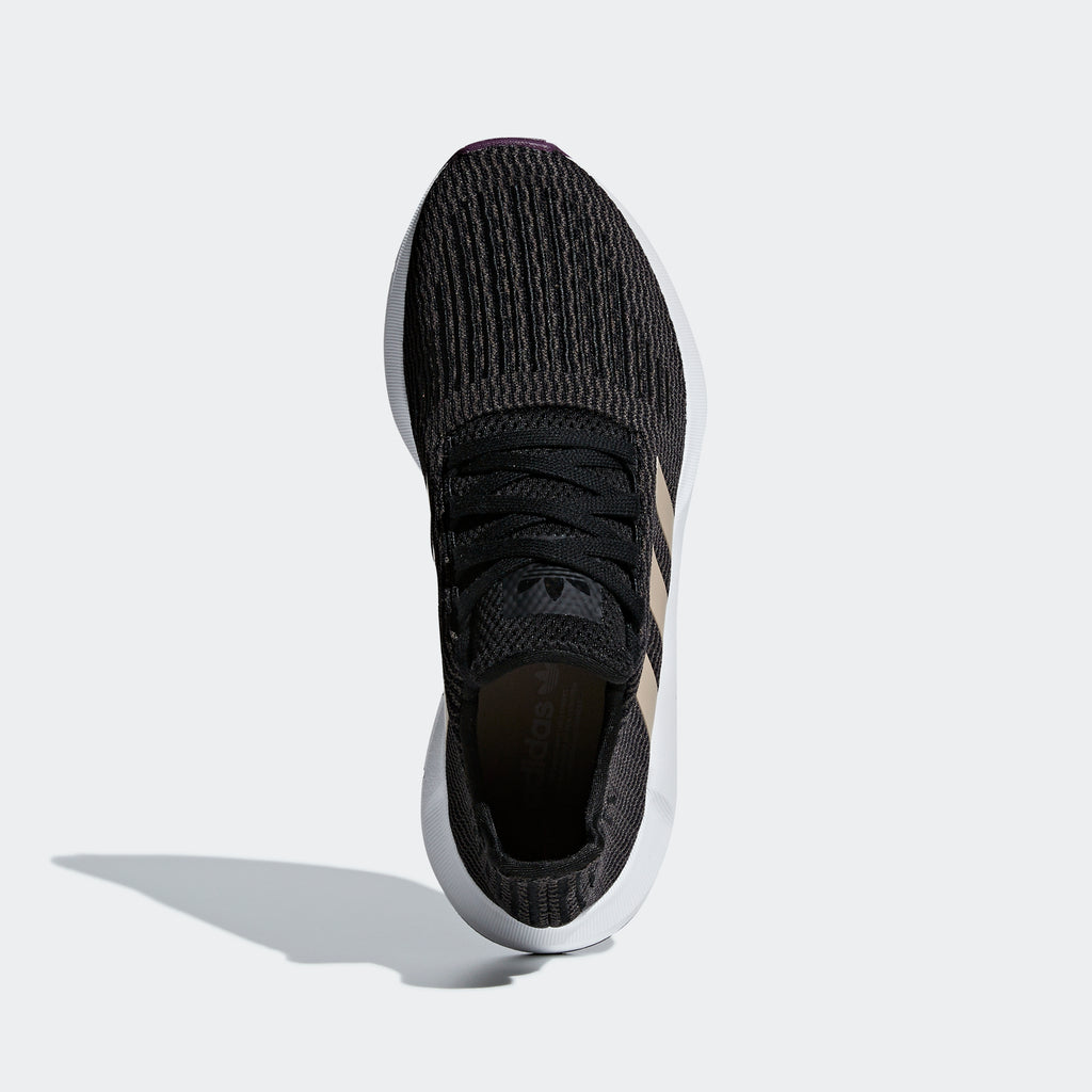 Women's adidas Originals Swift Run Shoes Black Ash Pearl