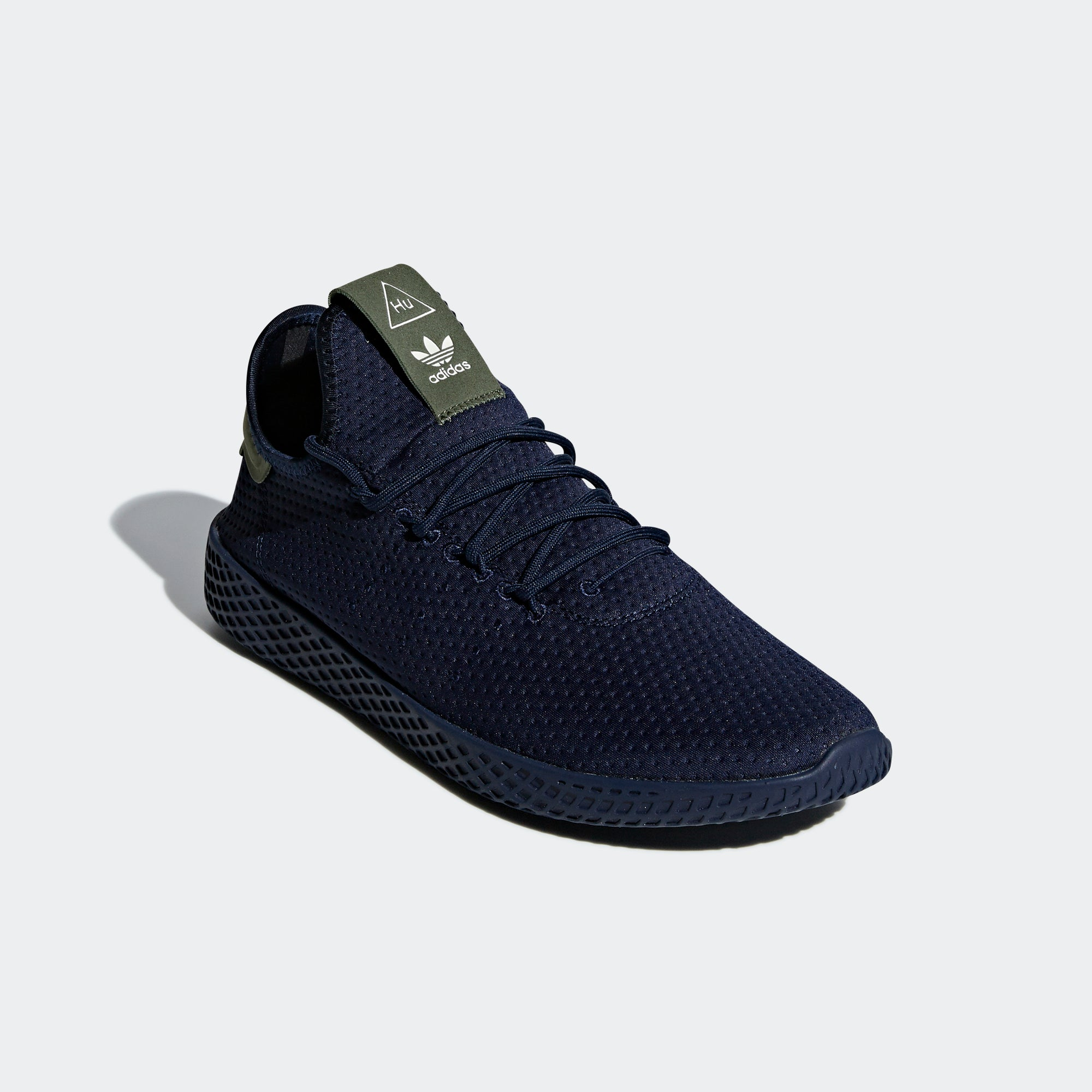 dc197611cb104 Men s adidas Originals Pharrell Williams Tennis Hu Shoes Collegiate Navy. 1