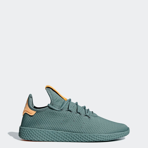 Men's adidas Originals Pharrell Williams Tennis Hu Shoes Raw Green