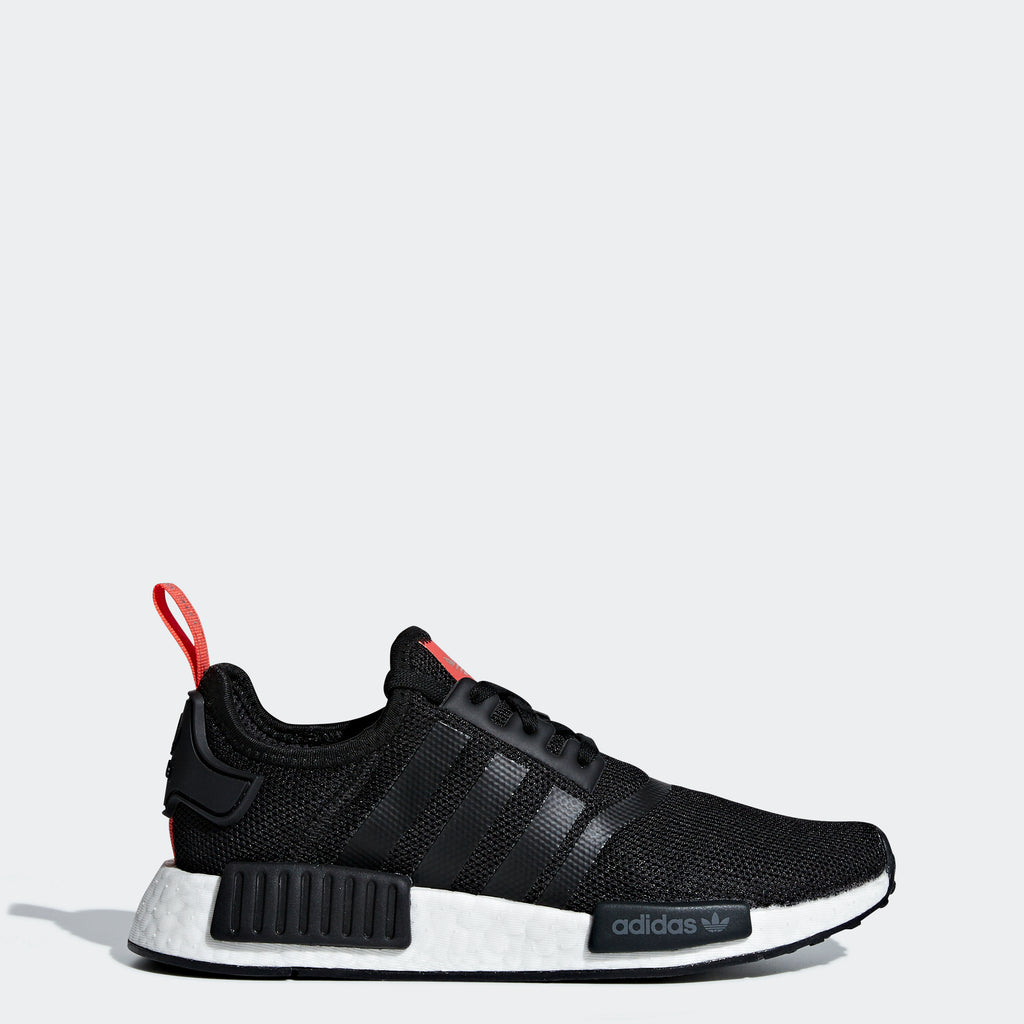 Kid's adidas Originals NMD_R1 Shoes Black Red
