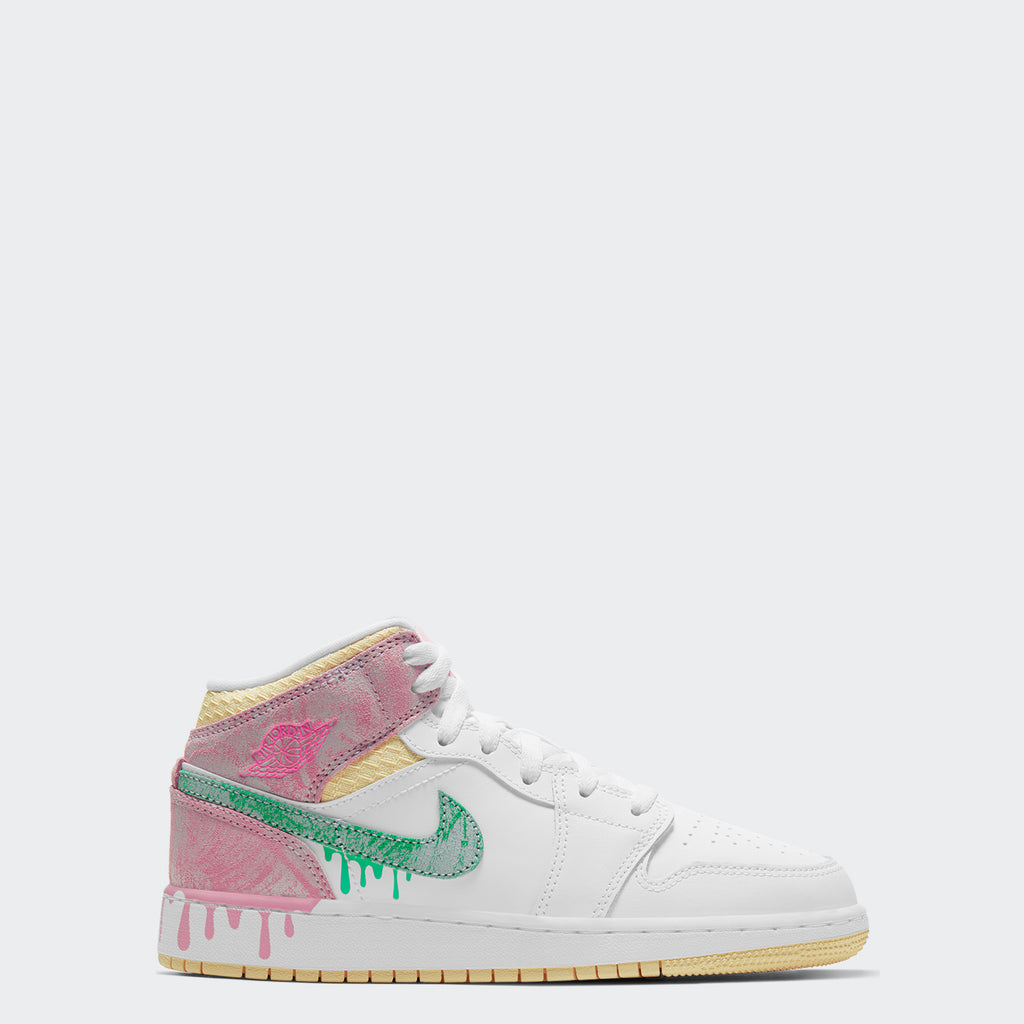 "GS Air Jordan 1 Mid SE ""Ice Cream"" DD1666-100 
