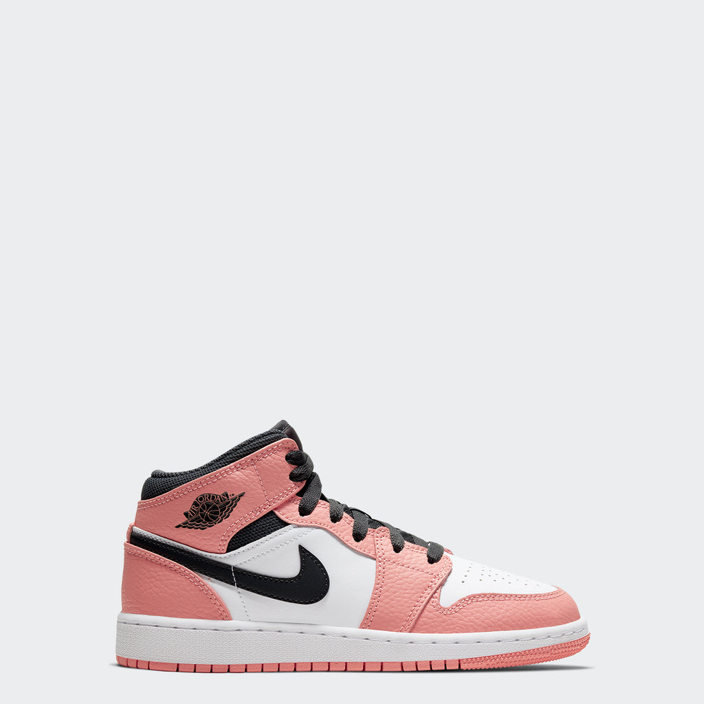 "Big Kids' Air Jordan 1 Mid Shoes GS ""Pink Quartz"""
