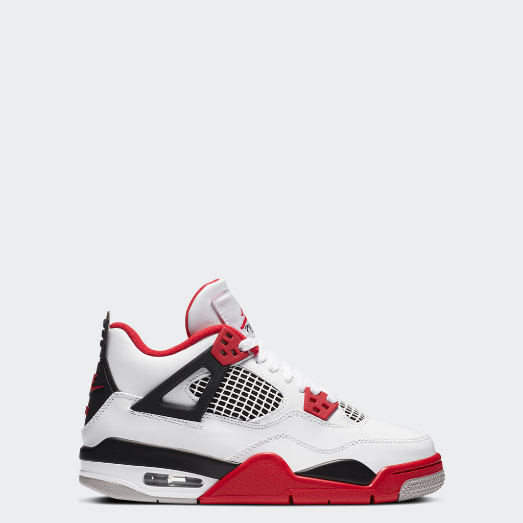 "Big Kids' Air Jordan 4 Retro GS ""Fire Red"" 