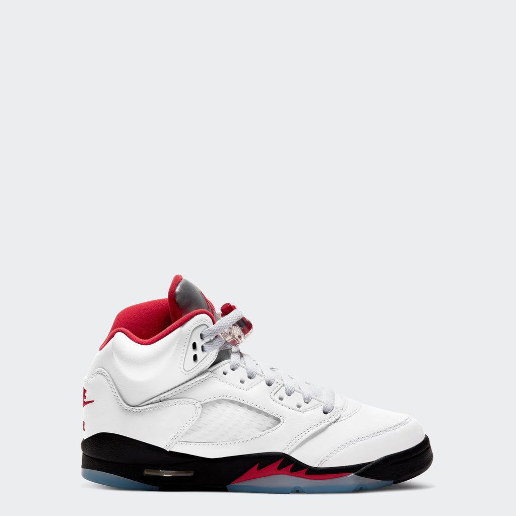 "Big Kids' Air Jordan 5 Retro ""Fire Red"" (Size 3.5Y-7Y)"