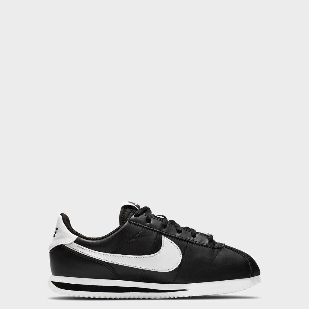 Big Kids' Nike Cortez Basic Black 904764-001 | Chicago City Sports | side view