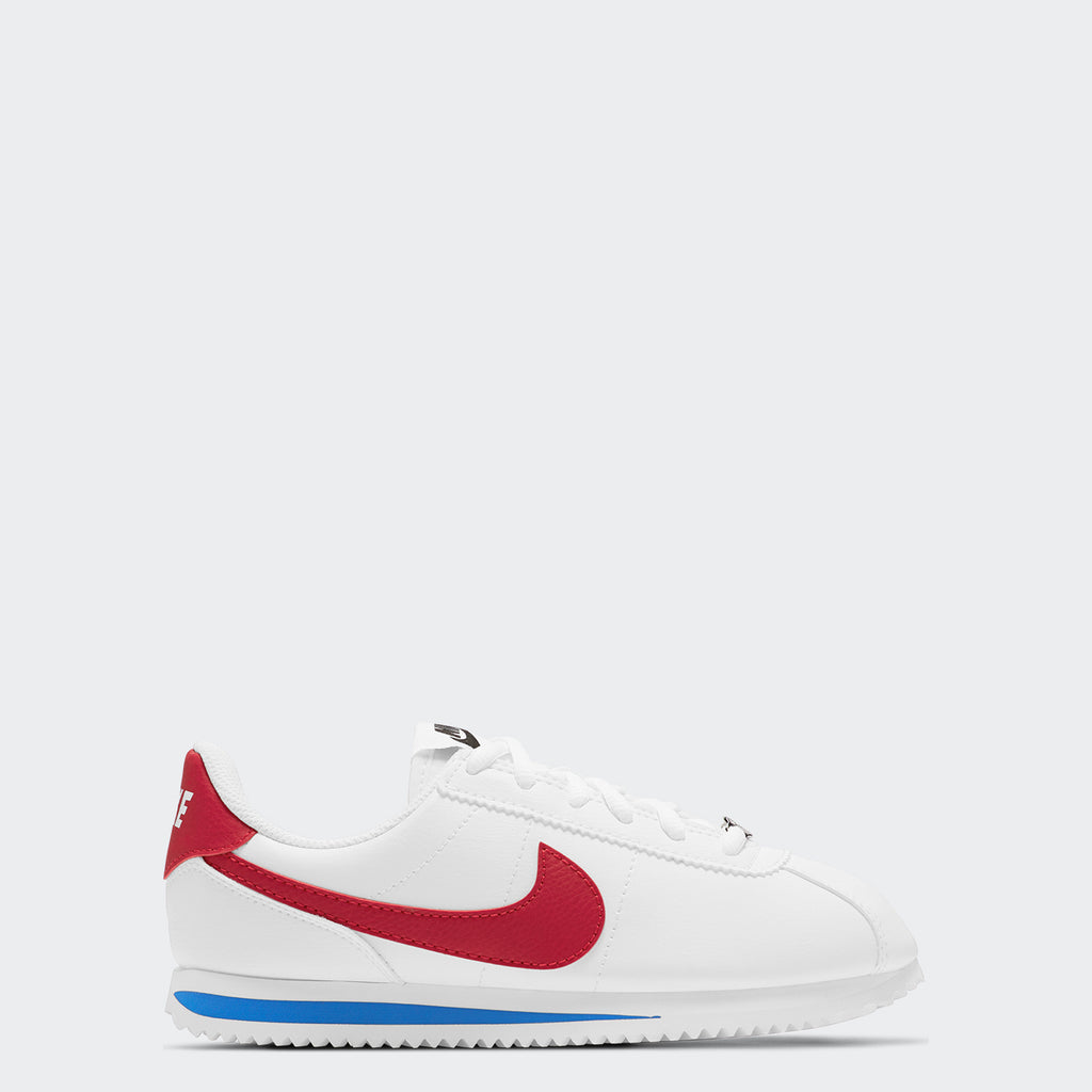 Big Kids' Nike Cortez Basic RWB 904764-103 | Chicago City Sports | side view