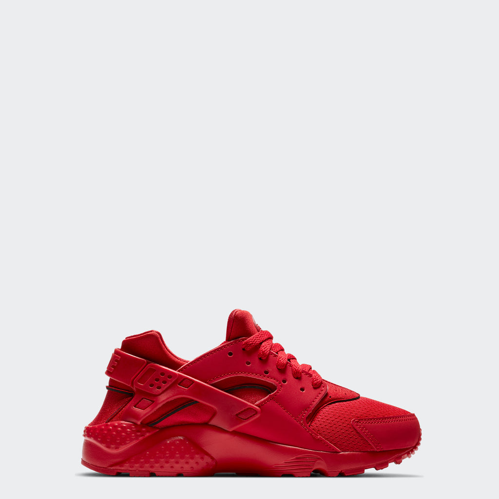 Big Kids' Nike Huarache Run Red 654275-600 | Chicago City Sports | side view