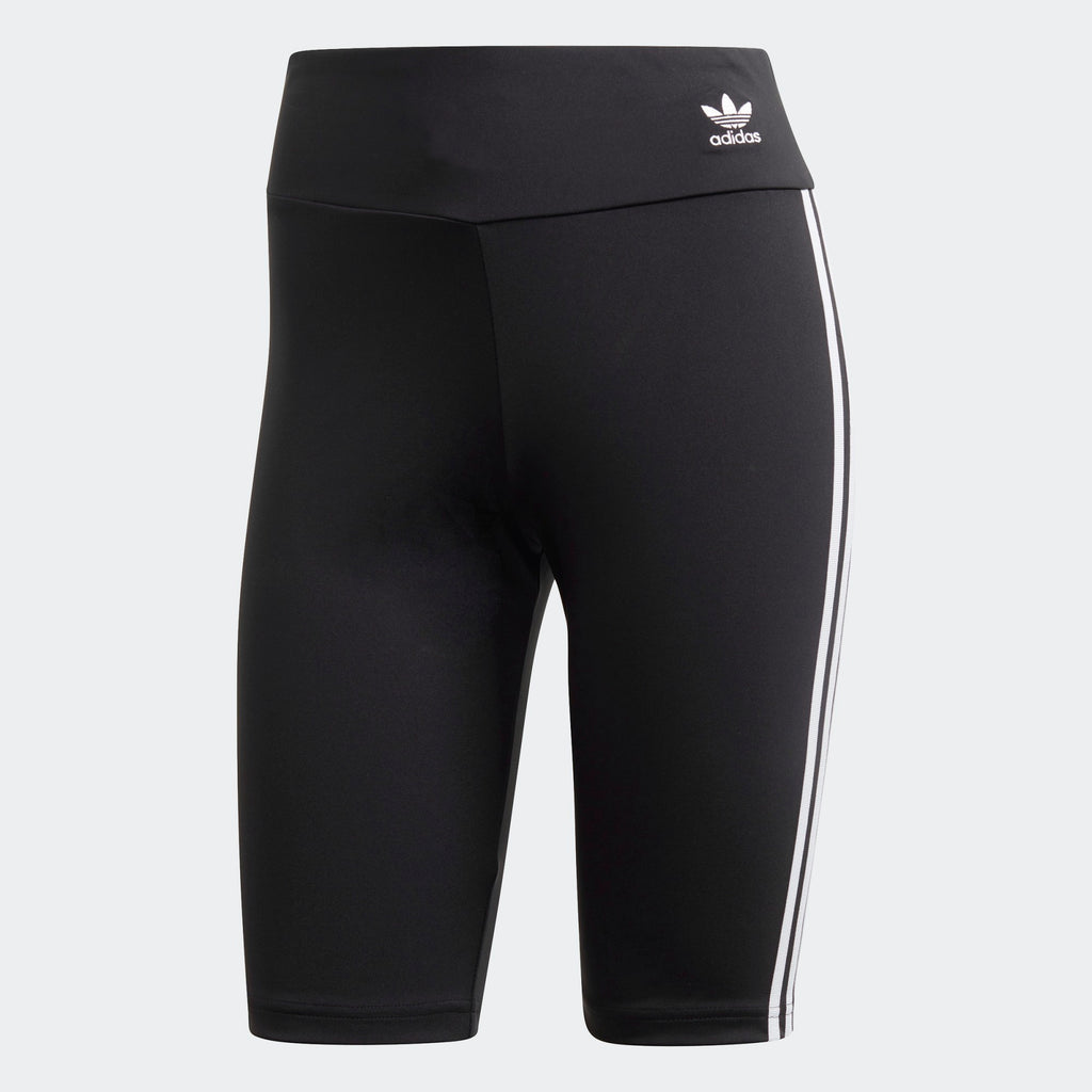 Women's adidas Biker Shorts Black | Chicago City Sports | front view