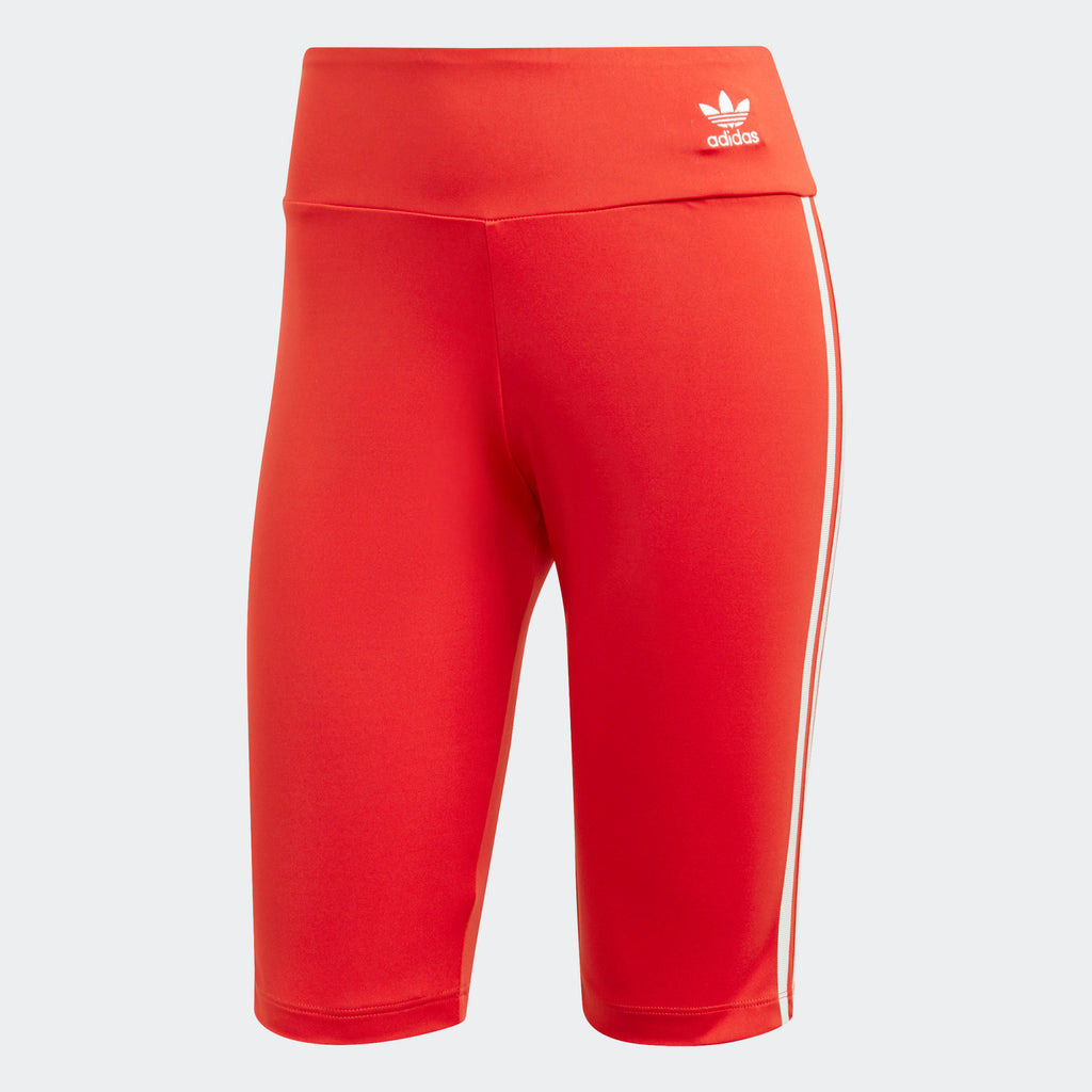 Women's adidas Originals Biker Shorts Red