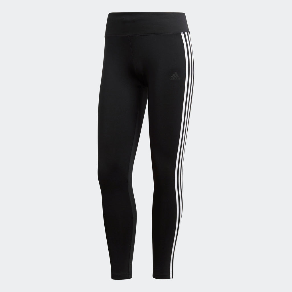 Women's adidas Training D2M Climalite 3-Stripes Leggings Black