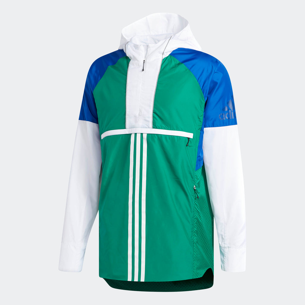 Men's adidas Athletics ID Woven Shell Jacket Bold Green