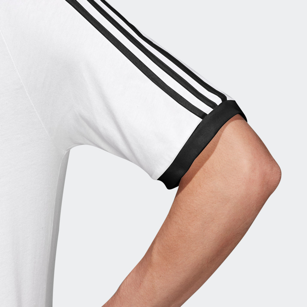 Men's adidas Originals 3-Stripes Slim Tee White CW1203 | Chicago City Sports | sleeve view
