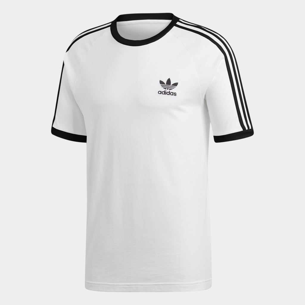 Men's adidas Originals 3-Stripes Slim Tee White CW1203 | Chicago City Sports | front view