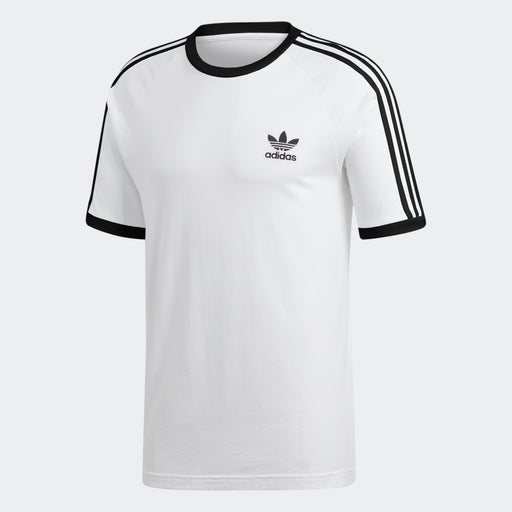 Men's adidas Originals 3-Stripes Slim Tee White