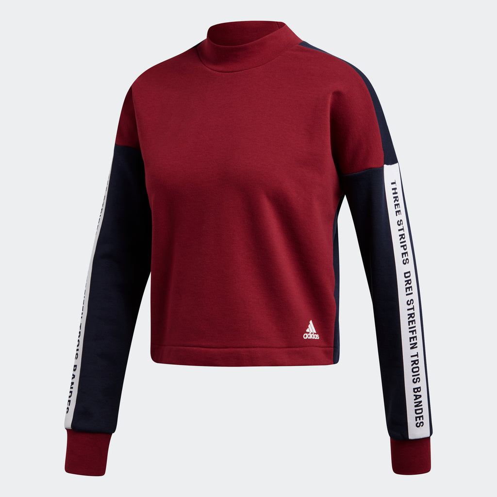 Women's adidas Athletics Sport ID Sweatshirt Noble Maroon
