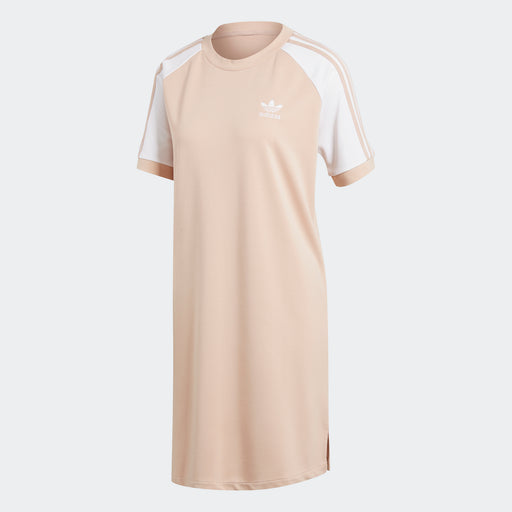 Women's adidas 3-Stripes Raglan Dress Ash Pearl Pink