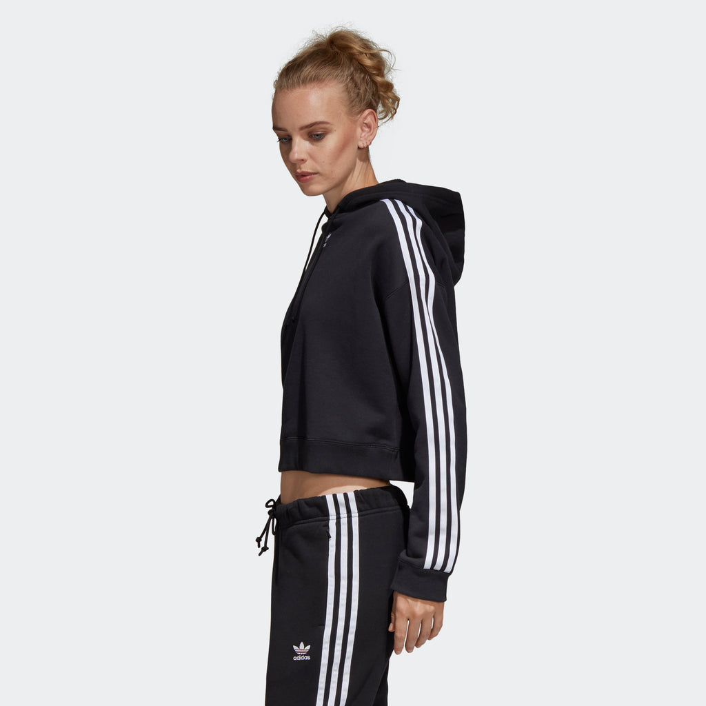Women's adidas Originals Cropped Hoodie Black