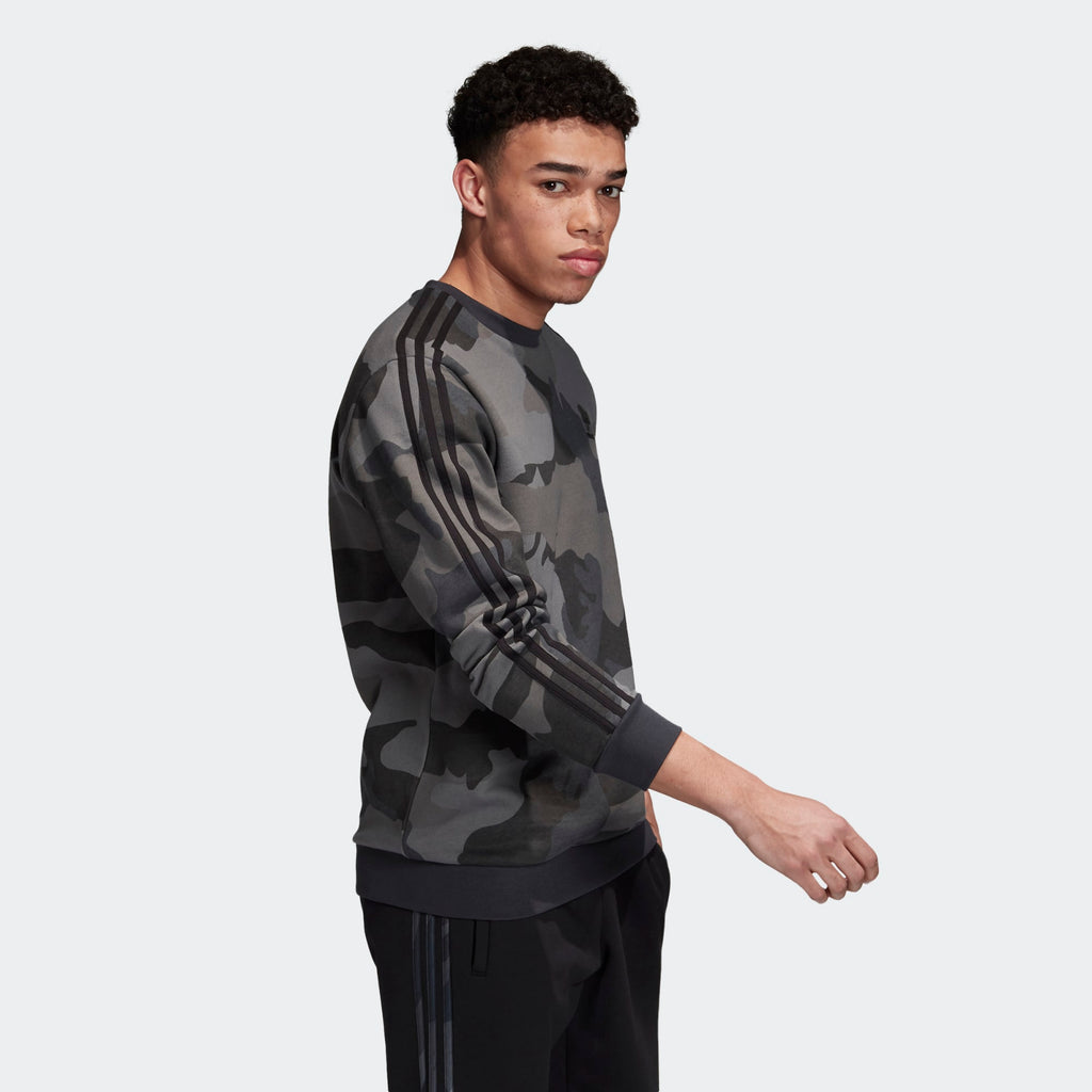 Men's adidas Originals Carbon Camouflage Crewneck Sweatshirt