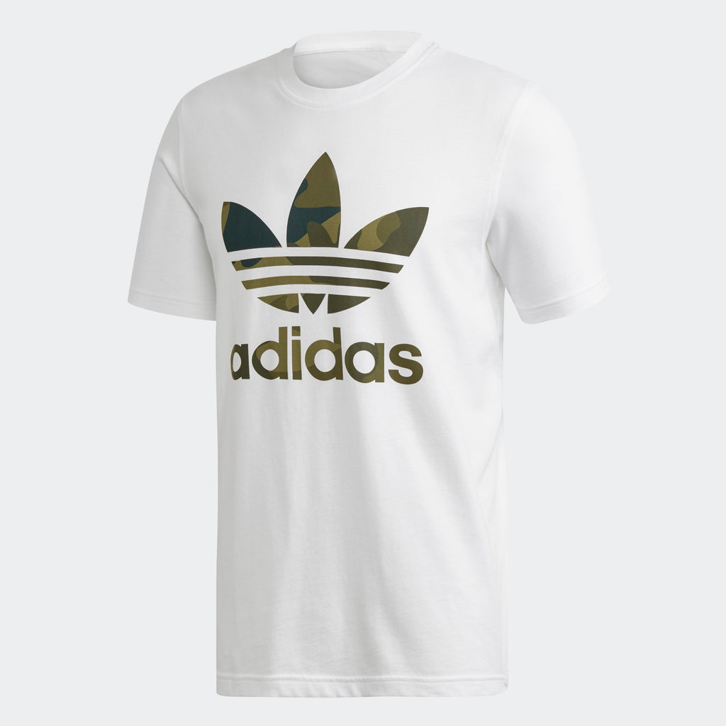 Men's adidas Originals Camouflage Tee White Green