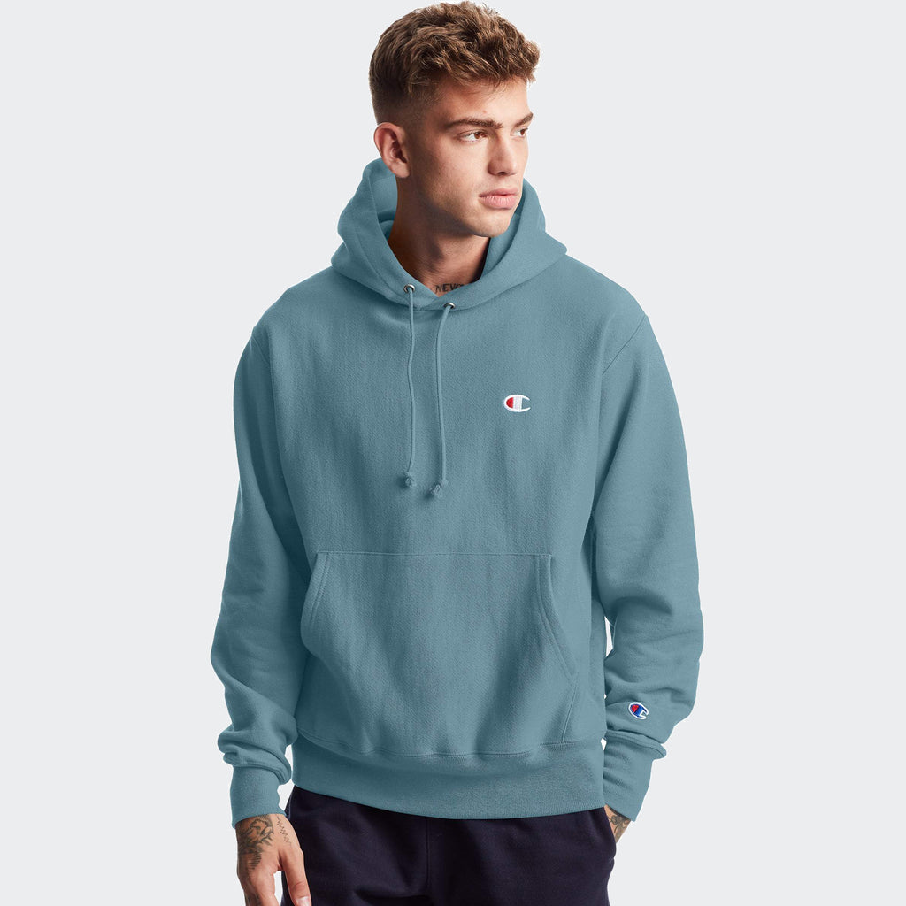 Men's Champion Life Reverse Weave Hoodie Carefree Teal
