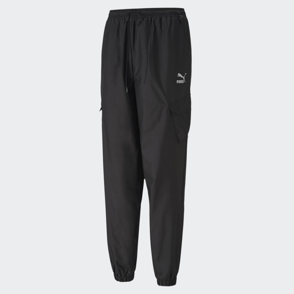 Women's PUMA Classics Utility Pants Black (SKU 59849601) | Chicago City Sports | front view