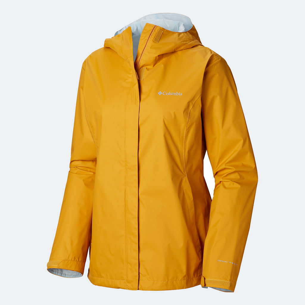 Women's Columbia Arcadia II Rain Jacket Raw Honey
