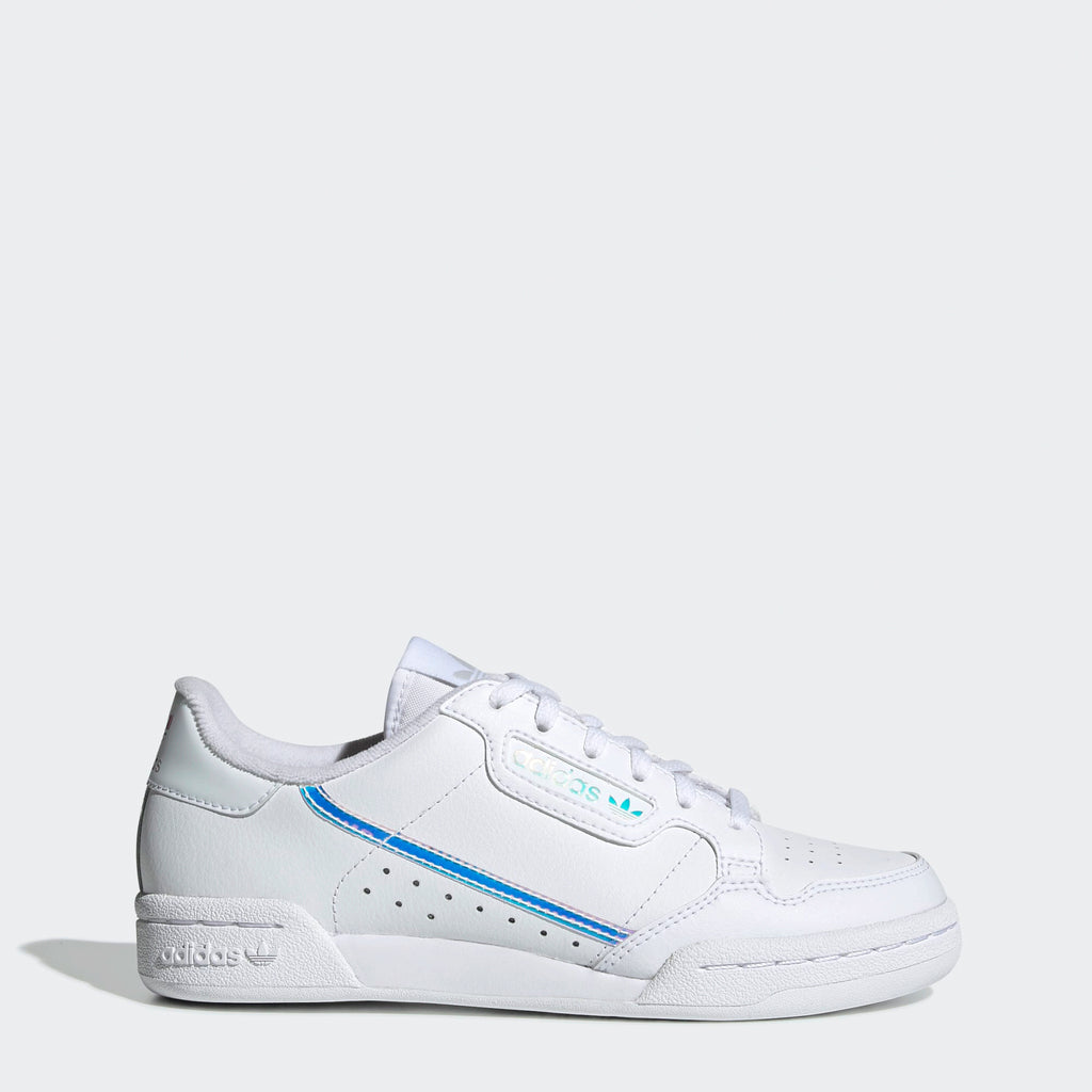 Kid's adidas Originals Continental 80 Shoes Cloud White Iridescent