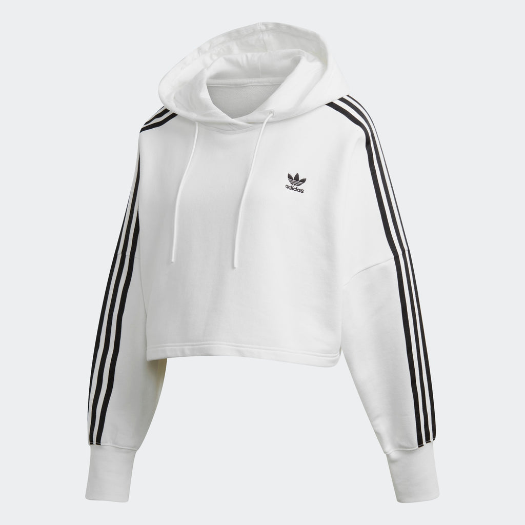 Women's adidas Originals Cropped Hoodie White