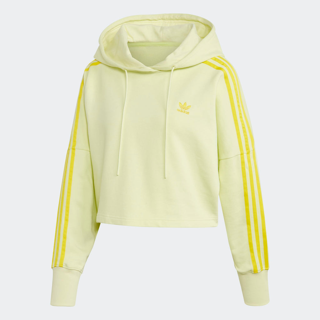 Women's adidas Originals Cropped Hoodie Ice Yellow