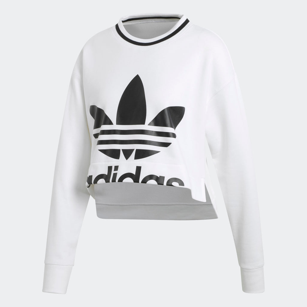 Women's adidas Originals Cropped Sweatshirt White