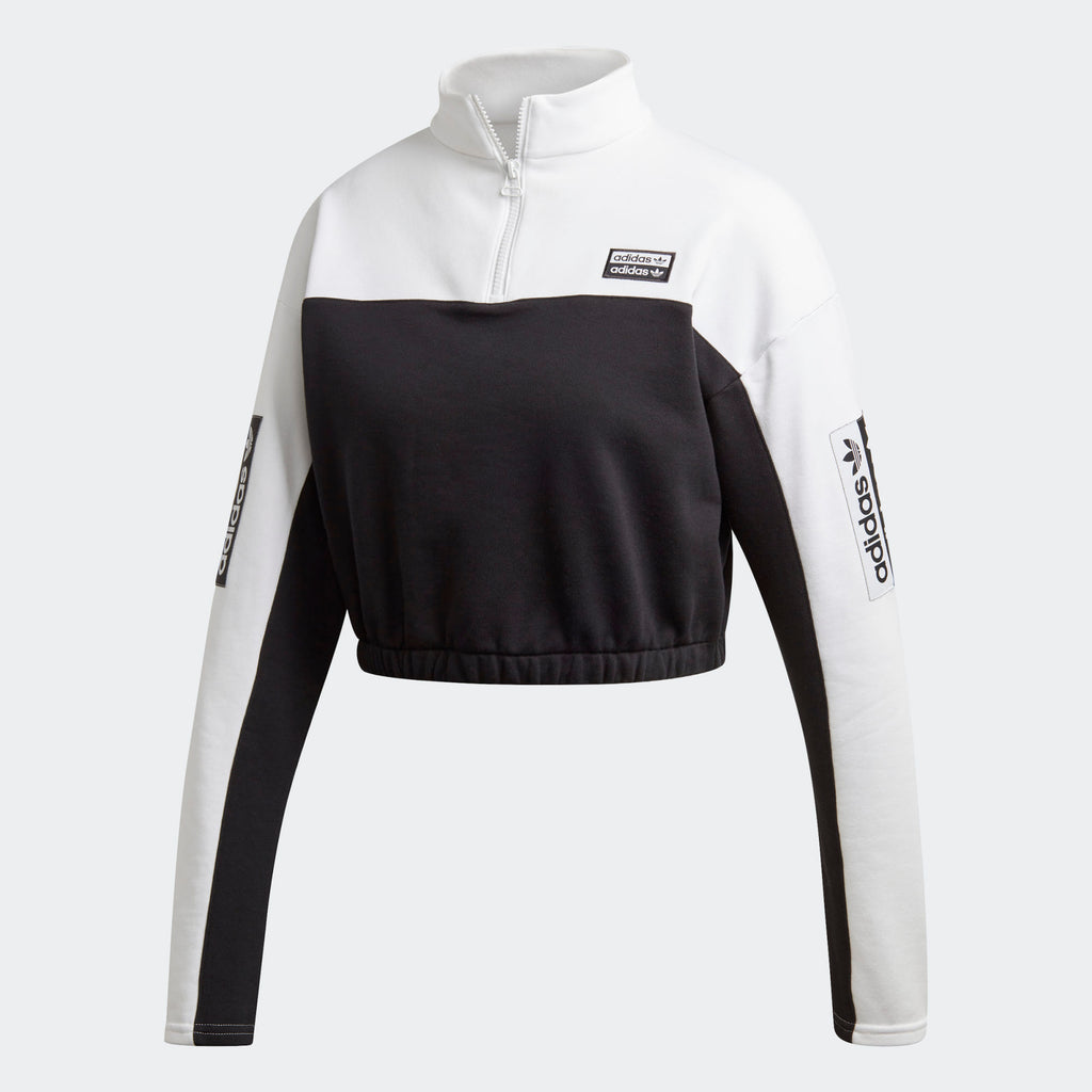 Women's adidas Originals Cropped Sweatshirt White/Black