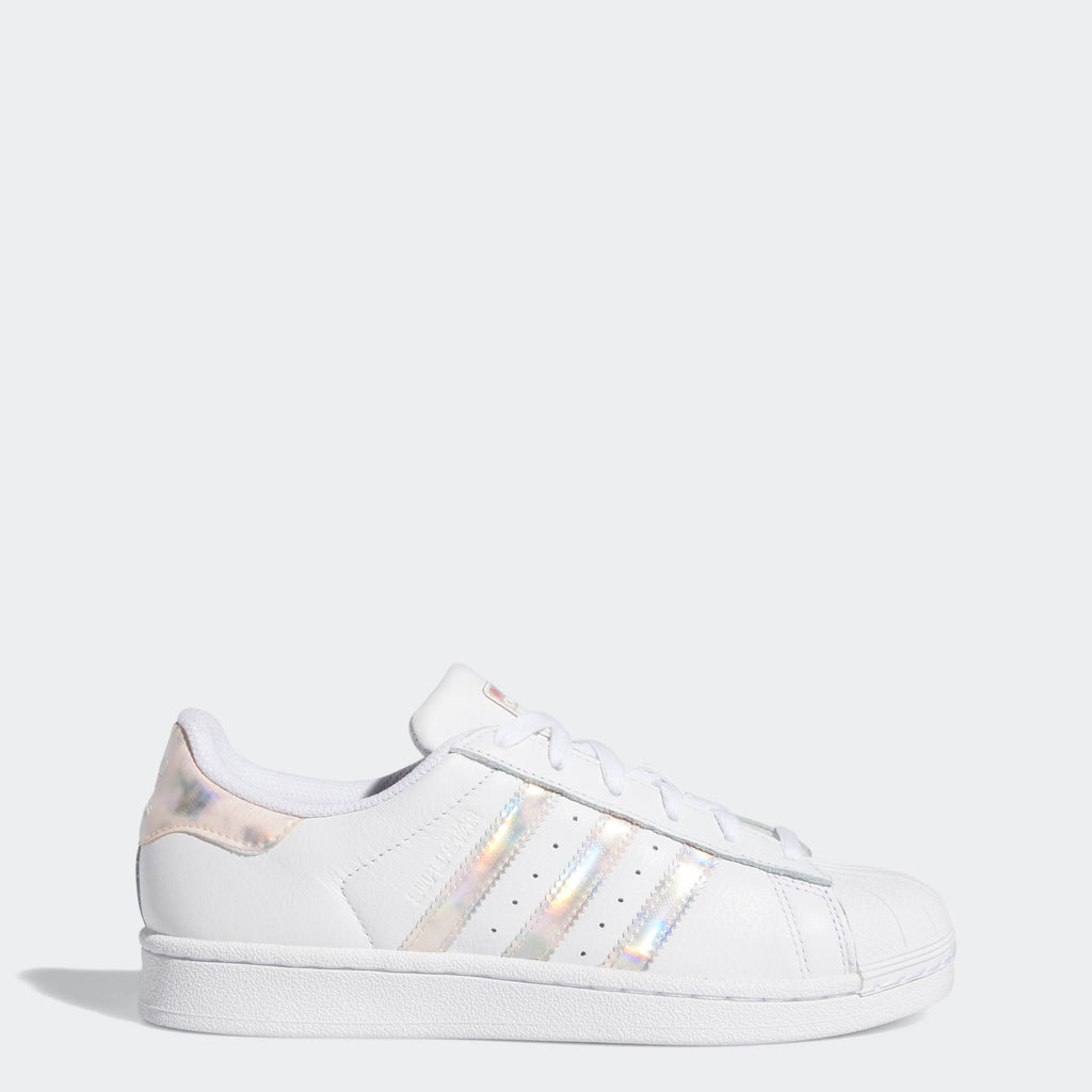 Kid's adidas Originals Superstar Shoes White Reflective (3.5-7)