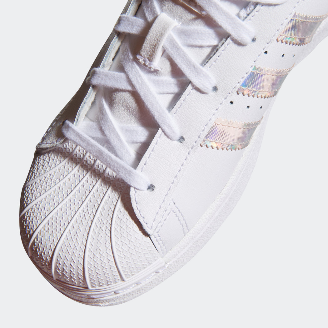 Kid's adidas Originals Superstar Shoes White Reflective (11K-3)