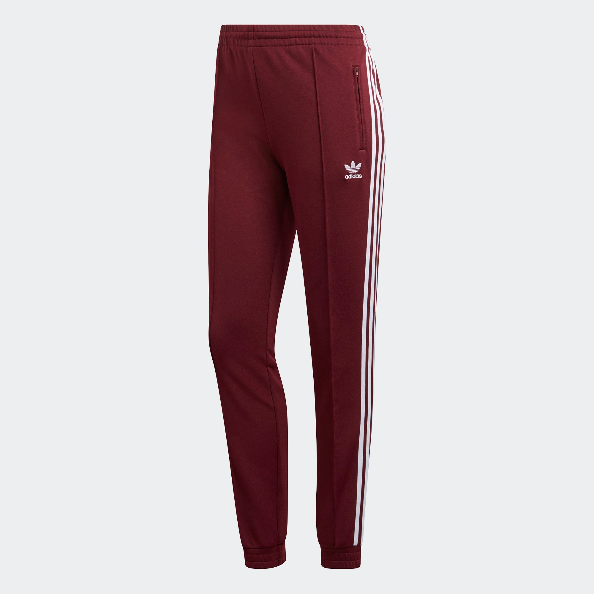 adidas CLRDO SST Track Pants Maroon DH2998   Chicago City Sports