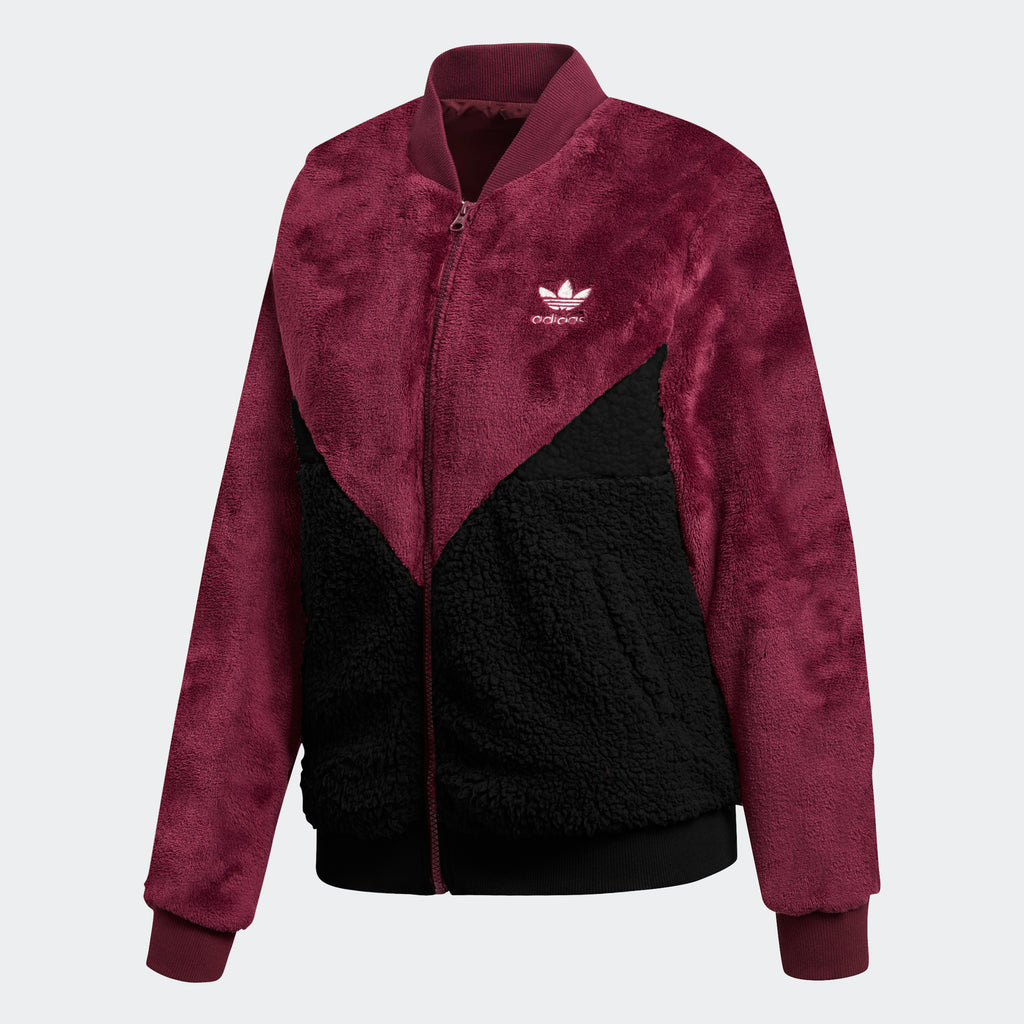 Women's adidas Originals CLRDO Track Jacket Amazon Red