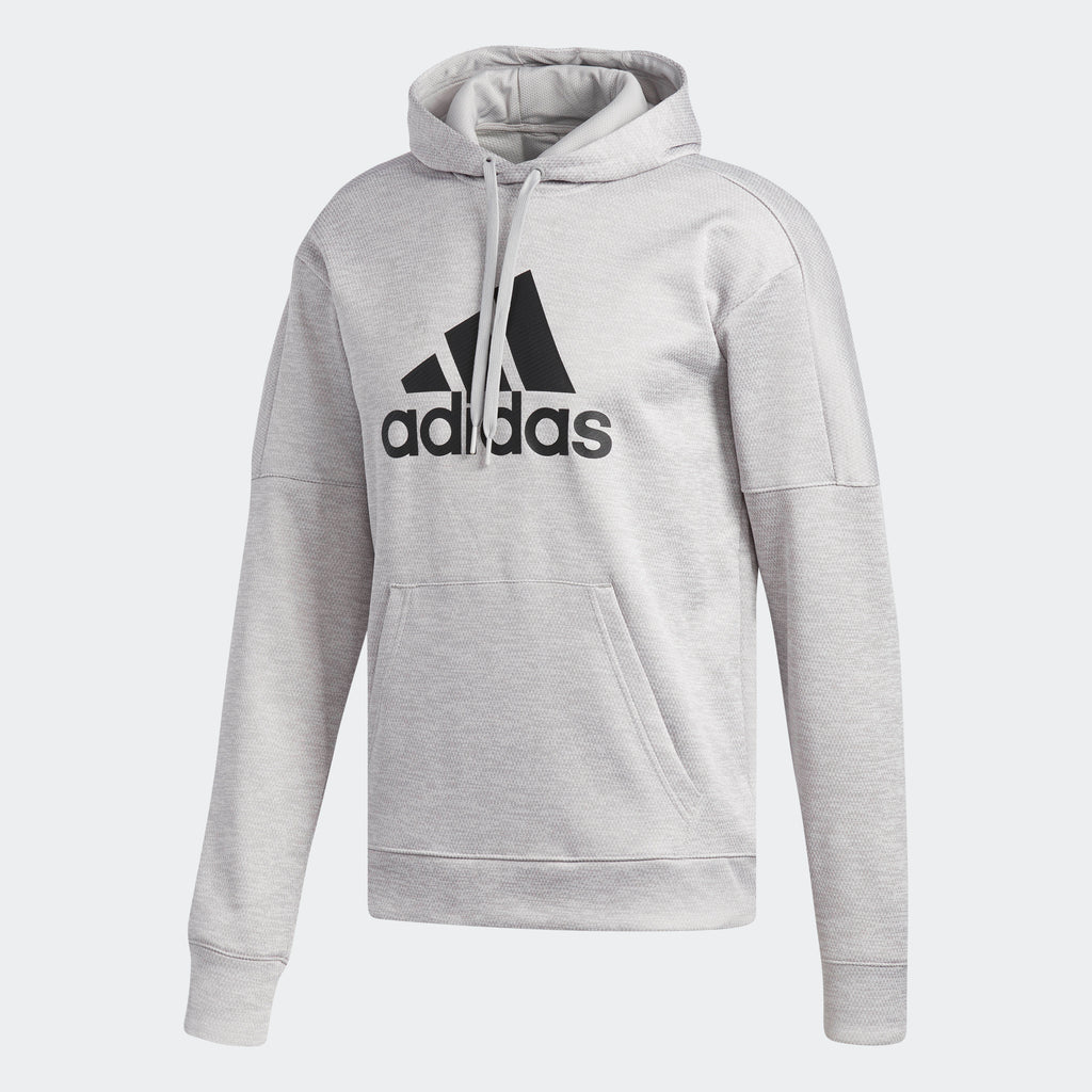 quality great look really comfortable Men's adidas Athletics Team Issue Badge of Sport Hoodie Grey