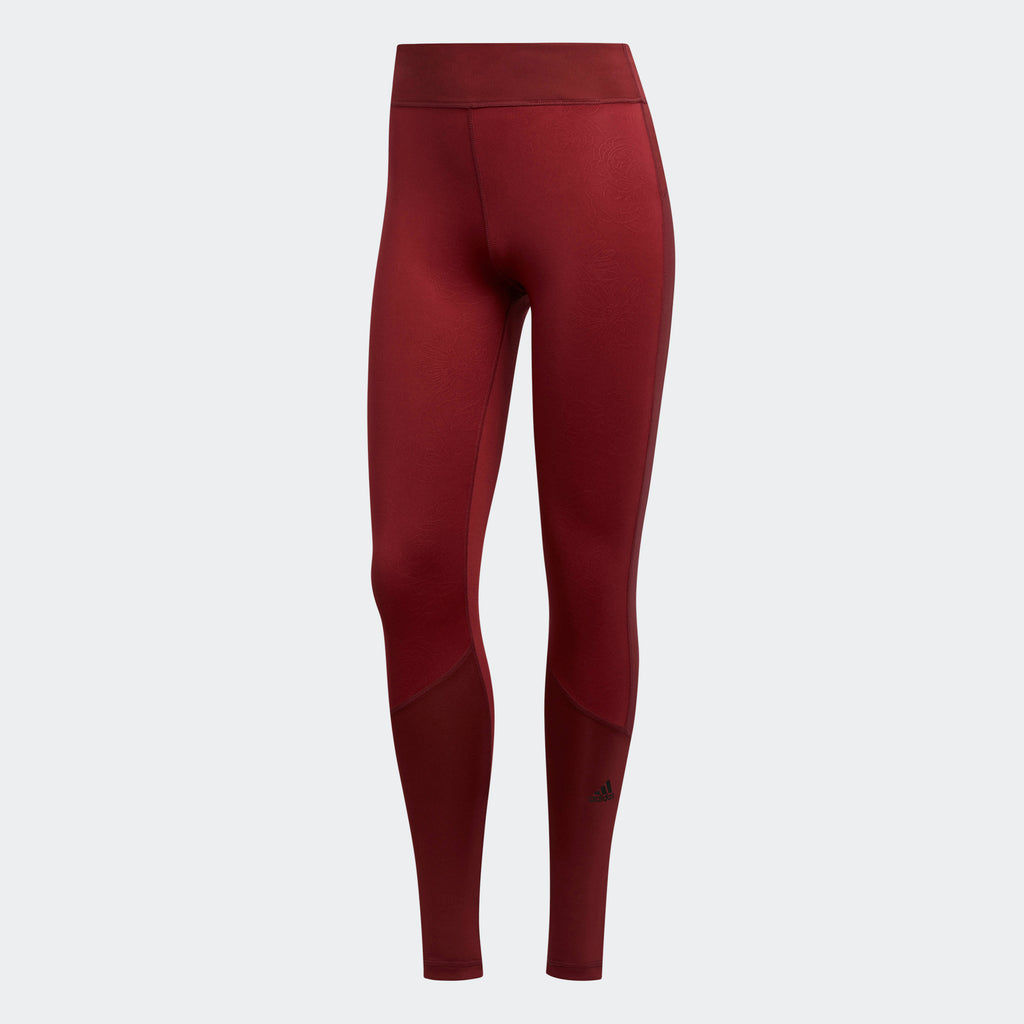 Women's adidas Training D2M Leggings Noble Maroon