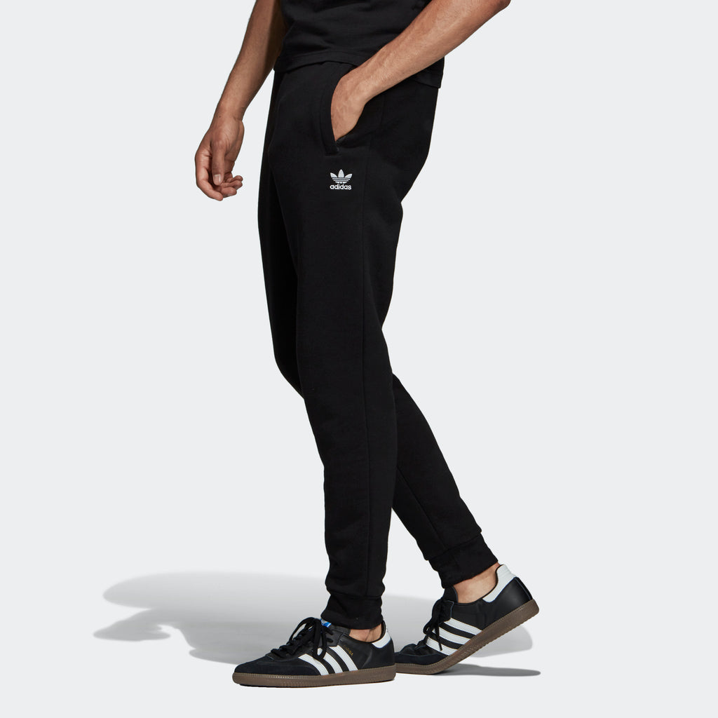 Men's adidas Originals Fleece Slim Pants Black