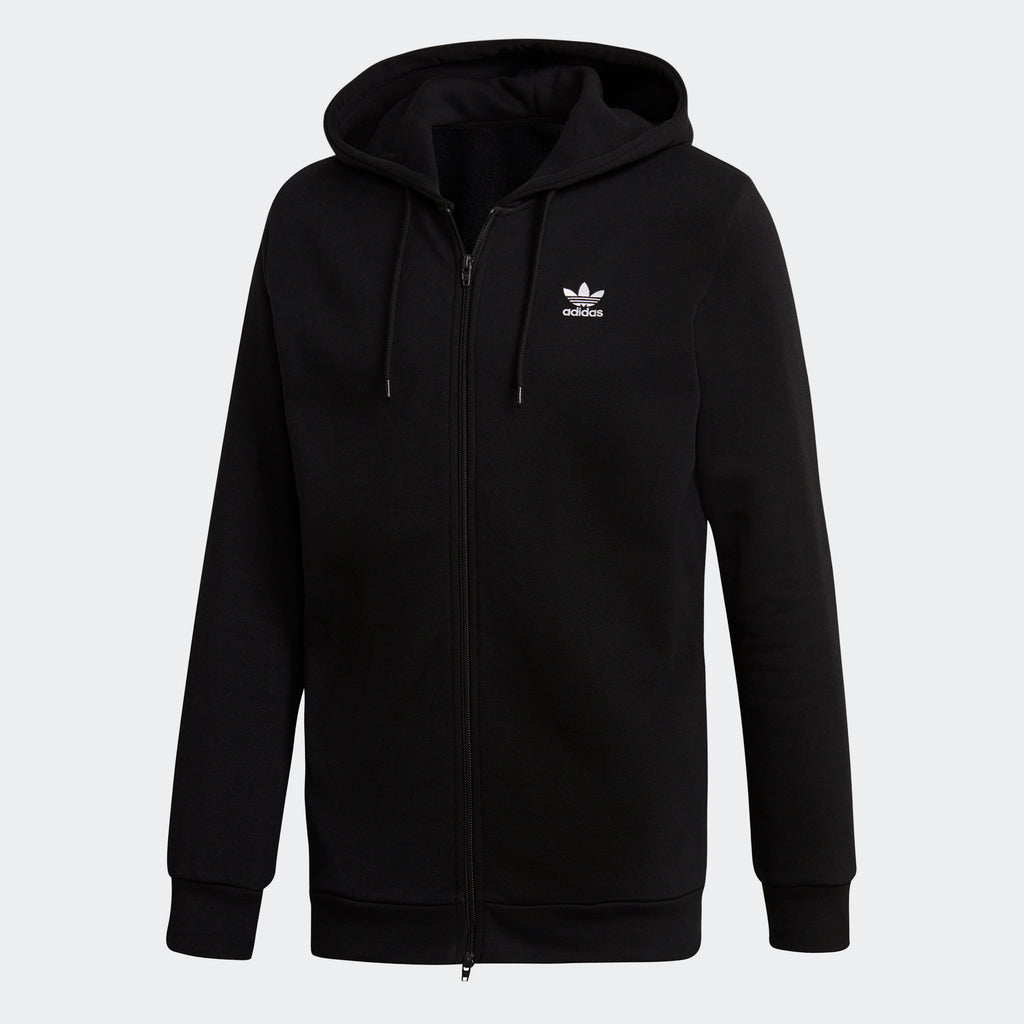 Men's adidas Originals Fleece Trefoil Hoodie Black