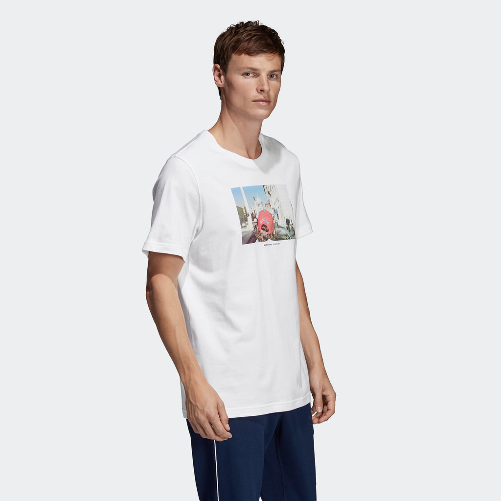 Men's adidas Originals Martin Parr Photo Tee White